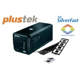 Plustek Scanner OpticFilm 8200i Ai mit Silverfast Ai Studio 8 Software und 35mm IT-Kalibrierungsvorlage