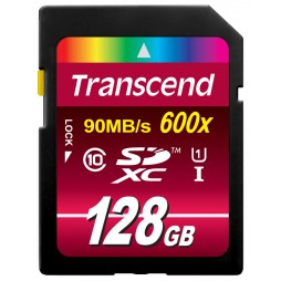 Transcend 128GB SDXC-Karte Class10 UHS-I Great for FullHD 600x Premium Qualität
