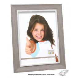 DEKNUDT Bilderrahmen Rahmen, 20x28 cm beige mit weisser Innenkante, Kunststoff