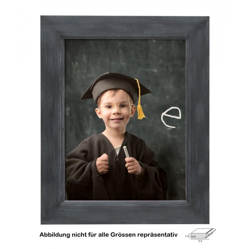 DEKNUDT Holz Bilderrahmen Grau , 40 x 50 cm schwarz gemalt S870L2