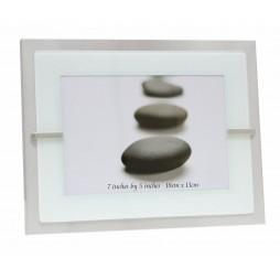 Deknudt Metallrahmen in silber für ein Bild13x18 cm in Passepartout mit Opalglas