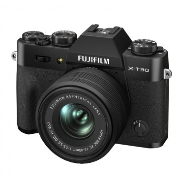 FUJIFILM X-T30 II schwarz mit XC-15-45mm F3,5-5,6 OIS PZ