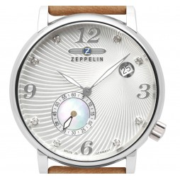 Zeppelin Luna Quarz kl. Sekunde mit Muschelband 7631-4