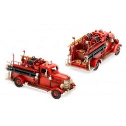 Feuerwehrauto aus Metall Größe ca. 23x8,5x10,5 cm - Antike Deko