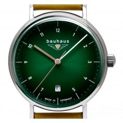 BAUHAUS Damen UHR 2141-4 grünes Zifferblatt 36 mm + Datum