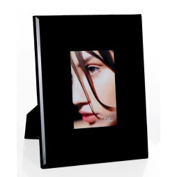 Design GLAS Portraitrahmen Black für 10x15 cm zum Stellen oder Hängen