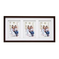 Deknudt Holz Galerierahmen Braun für 3 Fotos 13x18 cm