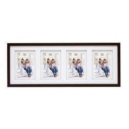 Deknudt Holz Galerierahmen Braun für 4 Fotos 10x15 cm
