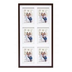 Deknudt Holz Galerierahmen Braun für 6 Fotos 10x15 cm