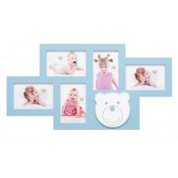 DEKNUDT Galerierahmen , blau , für 5 Bilder 10x15 cm S66RK4 P5