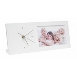 DEKNUDT UHR Weiß für 1 Bilder 10x15 cm S66RT1