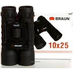 Braun Fernglas 10x25 schwarz