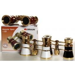 Braun Fernglas Opera Fernglas gold/burgund Operbglas