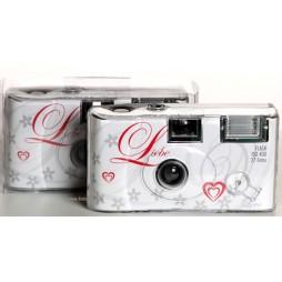 10x Hochzeit Einwegkameras mit Blitz in Love Design 27 Aufnahmen