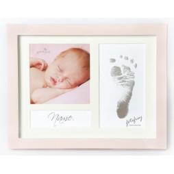 Goldbuch Baby Portraitrahmen First Steps Pink 9x2,5 cm , 9x9 cm sowie 6,5x12,5 cm