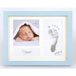Goldbuch Baby Portraitrahmen First Steps Blau 9x2,5 cm , 9x9 cm sowie 6,5x12,5 cm