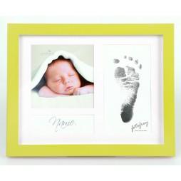Goldbuch Baby Portraitrahmen First Steps Grün 9x2,5 cm , 9x9 cm sowie 6,5x12,5 cm