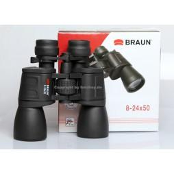 Braun Fernglas 8-24x50