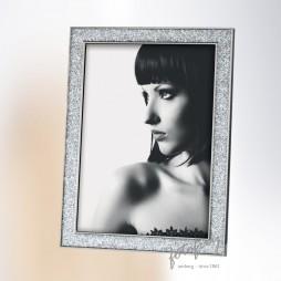 MASCAGNI ITALY DESIGN Portraitrahmen Metall mit Glitter 15x20 cm M406