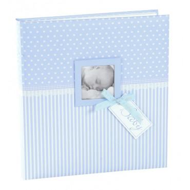 Goldbuch Babyalbum Sweetheart blau 15802 , 60 weiße Seiten und 4 Seiten Textvorspann