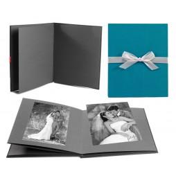 Goldbuch Leporellomappe Linum türkis 68918 für 10x Bilder 13x18cm