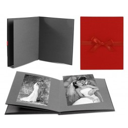 Goldbuch Leporellomappe Linum rot 68927 für 10x Bilder 13x18cm