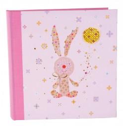 Goldbuch Babyalbum Bunny & Co mit Goldprägung 24230 , weiße Seiten