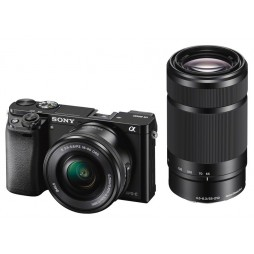 Sony Alpha ILCE-6000 inkl. 3,5-5,6 / 16-50 mm OSS & 4,5-6,3 / 55-210 mm OSS schwarz