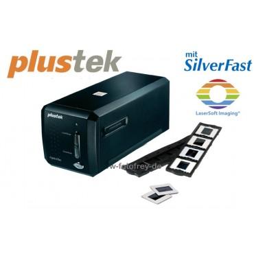 Plustek Scanner OpticFilm 8200i Ai mit Silverfast Ai Studio 8 Software und 35mm IT-Kalibrierungsvorlage