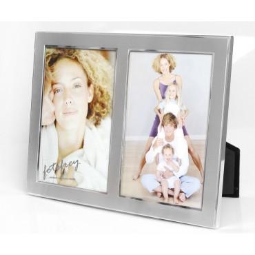 EURATIO Metall Galerierahmen SANIA für 2 Bilder 10x15 cm zum Stellen od. Hängen