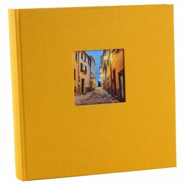 Goldbuch Fotoalbum Bella Vista gelb 27971 30x31cm, 60 schwarze Seiten