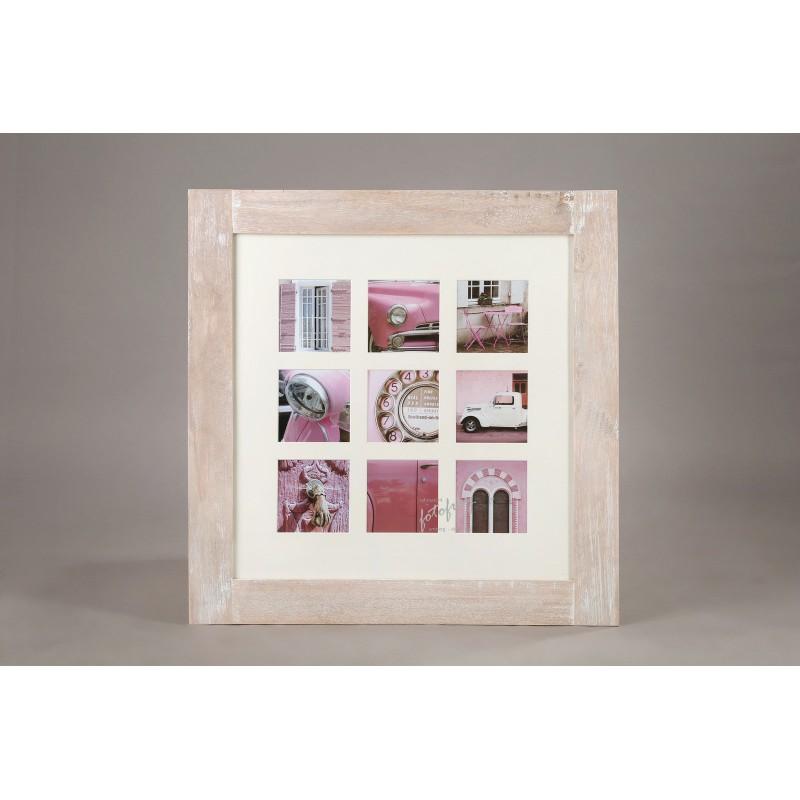 Effect Holz Galerierahmen Fjorde m. Passepartout für 9 Bilder in ...