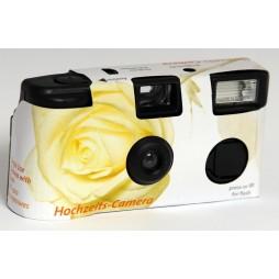 10x Hochzeit Einwegkameras mit Blitz in Rosen Design 27 Aufnahmen