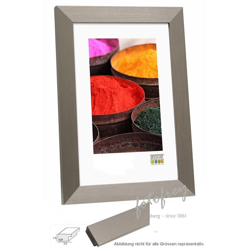 DEKNUDT Design Bilderrahmen Silberbraun 20 cm x 28 cm mit Recto Glas ...