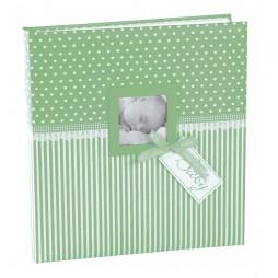 Goldbuch Babyalbum Sweetheart blau 15803 , 60 weiße Seiten und 4 Seiten Textvorspann