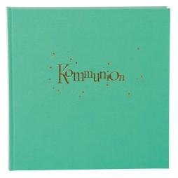 Goldbuch Kommunion Fotoalbum Pistazie 03030 Kommunionalbum Goldprägung + Relief
