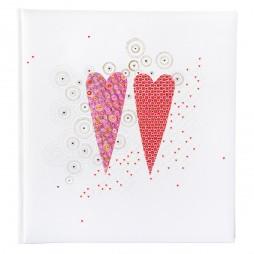 Goldbuch Hochzeitsalbum 2 Hearts 08161 - 60 weiße Seiten mit Pergamin
