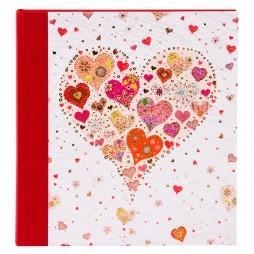 Goldbuch Hochzeitsalbum Big Heart rose 08411 - 60 weiße Seiten mit Pergamin