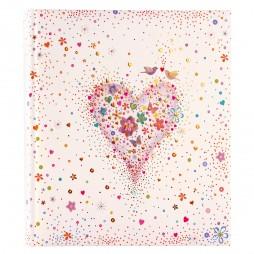 Goldbuch Hochzeitsalbum Happily Heart 08276 - 60 weiße Seiten mit Pergamin