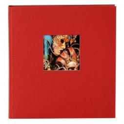 Goldbuch Fotoalbum Bella Vista Leinen 24890 rot , 60 weiße Seiten, 25x25cm