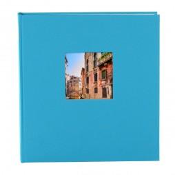 Goldbuch Fotoalbum Bella Vista Leinen 24893 türkis , 60 weiße Seiten, 25x25cm