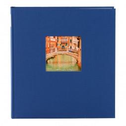 Goldbuch Fotoalbum Bella Vista Leinen 24895 blau , 60 weiße Seiten, 25x25cm