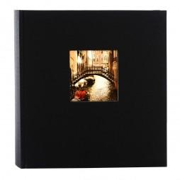 Goldbuch Fotoalbum Bella Vista Leinen 24897 schwarz, 60 weiße Seiten, 25x25cm