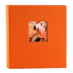 Goldbuch Fotoalbum Bella Vista Leinen 24899 orange , 60 weiße Seiten, 25x25cm