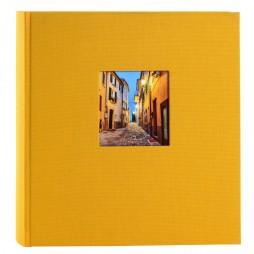 Goldbuch Fotoalbum Bella Vista Leinen 24891 gelb , 60 weiße Seiten, 25x25cm