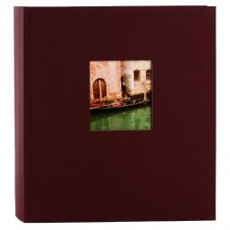 Goldbuch Fotoalbum Bella Vista Leinen 24892 bordeaux , 60 weiße Seiten, 25x25cm
