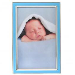 Goldbuch Felice 960062 Rahmen blau 10x15cm, Baby Rahmen aus Metall