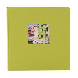 Goldbuch Fotoalbum Bella Vista Leinen 24896 grün, 60 weiße Seiten, 25x25cm