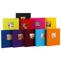 3x Goldbuch Fotoalben Bella Vista Leinen 24889 , 60 weiße Seiten, 25x25cm