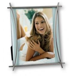 ZEP Libra 13x18 cm Portraitrahmen silber 350557, zum Stellen und Hängen